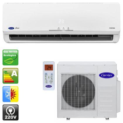 7c7173820 Ar condicionado split hi wall carrier x-power inverter 9.000 Btu h quente e  frio - 220v