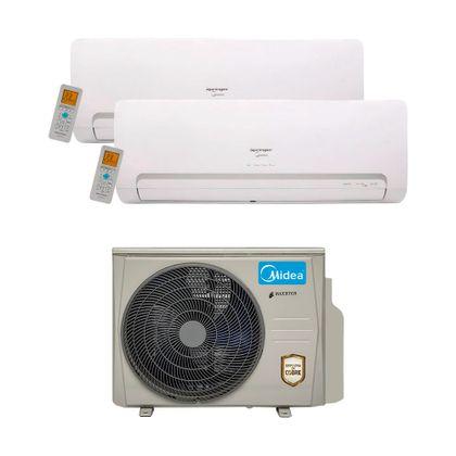 Ar-Condicionado-Multi-Split-Inverter-Springer-Midea-18.000-Btus--2x-Evap.-HW-12.000--Quente-e-Frio-220v