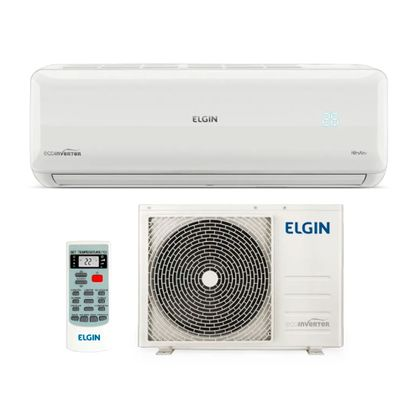1Ar Condicionado Split High Wall Eco Inverter Elgin 24000 BTUs Frio 220v