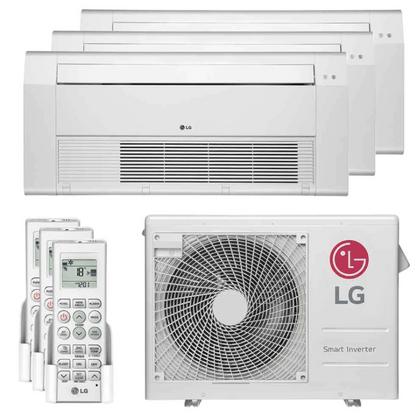 Ar-Condicionado-Multi-Split-Inverter-LG-24.000-Btus--2x-Evap-Cassete-9.000---1x-Evap-Cassete-18.000--Quente-e-Frio-220v