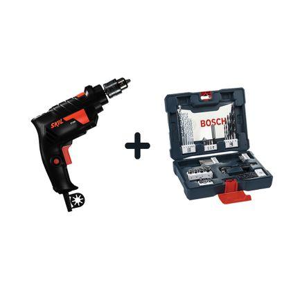 Combo-Furadeira-de-Impacto-Bosch-Skill-6600-127V---Kit-de-Pontas-e-Brocas-V-Line-para-Parafusar-e-Perfurar-com-41-unidades