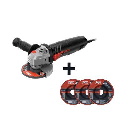 Combo-Esmerilhadeira-Angular-Bosch-Skil-9002-127V---Discos-