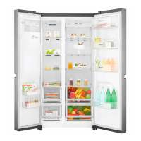 geladeira LG aberta
